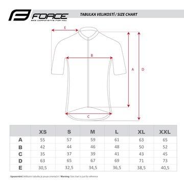 Marškinėliai FORCE Finisher (pilka) XXL