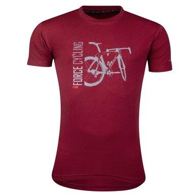 Marškinėliai FORCE FLOW, (raudoni) L