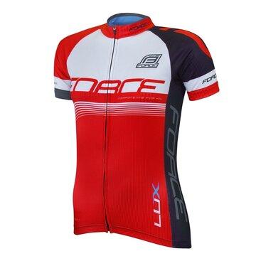 Marškinėliai FORCE LUX (juoda/raudona) M