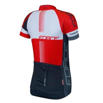 Marškinėliai FORCE LUX (juoda/raudona) XXL