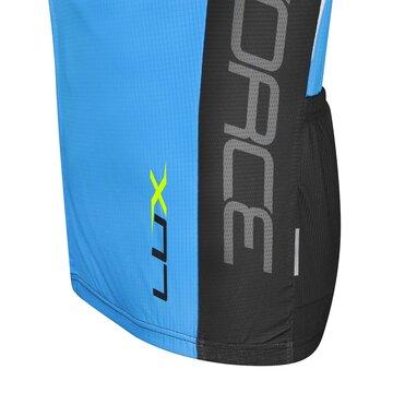 Marškinėliai FORCE LUX (mėlyna/juoda/balta) XL