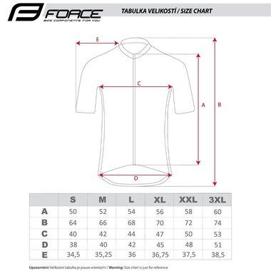 Marškinėliai FORCE MTB ANGLE (chaki) L