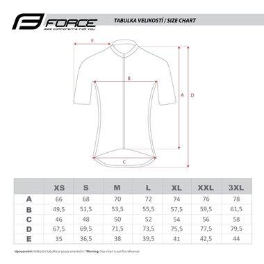 Marškinėliai FORCE MTB Core, (fluorescencinei/juodi) XXL