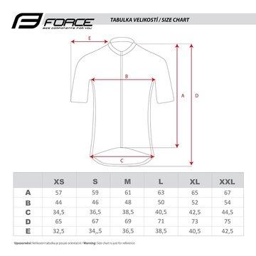 Marškinėliai FORCE POINT lady trumpomis rankovėmis (juoda/balta) S