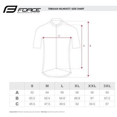 Marškinėliai FORCE Pure, (mėlyni) XL