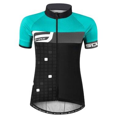 Marškinėliai FORCE Square, (juoda/žalia) M