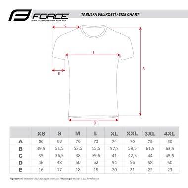 Marškinėliai FORCE SQUARE (pilka/raudona) XXL