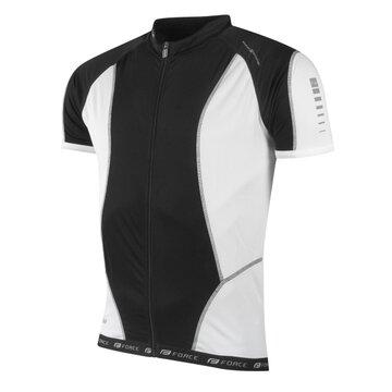 Marškinėliai FORCE T12 (juoda/balta) L