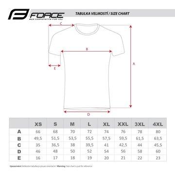 Marškinėliai FORCE T16 (juoda/pilka/balta) M