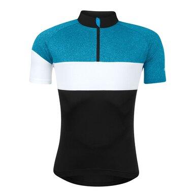 Marškinėliai FORCE View (juoda / mėlyna / balta) dydis XL