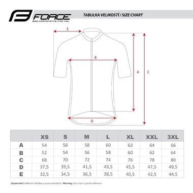 Marškinėliai FORCE View (juoda / balta / mėlyna) dydis XXL