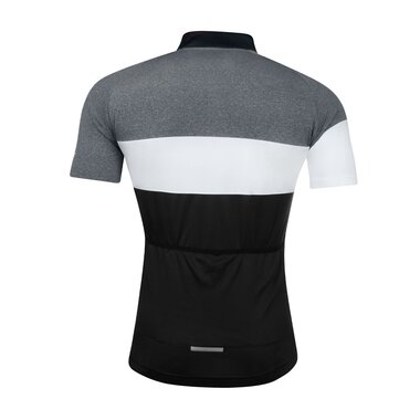 Marškinėliai FORCE View (juoda / balta / pilka) dydis L