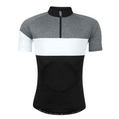 Marškinėliai FORCE View (juoda / balta / pilka) dydis XXL