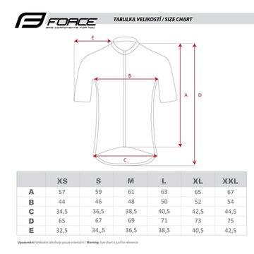 Marškinėliai FORCE Way (juoda/balta/mėtinė) S