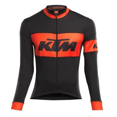 Marškinėliai KTM Race ilgom rankovėm, (juodi/oranžiniai) dydis XXL