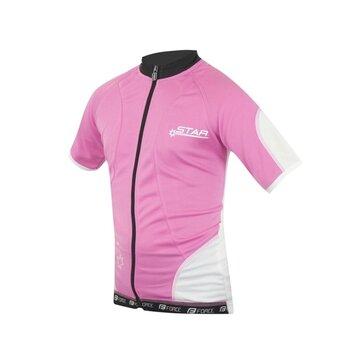 Vaikiški marškinėliai FORCE Kid Star 128-140cm (rožinė/balta)