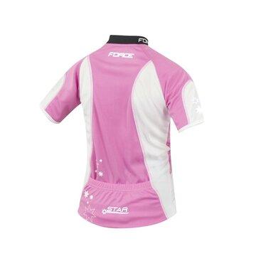 Vaikiški marškinėliai FORCE Kid Star 140-153cm (rožinė/balta)