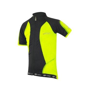 Kids jersey FORCE Kid Star 154-164cm (fluorescent/black)