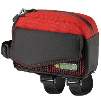 Krepšelis Ogns Target 0.84l RAUDONAS, priekyje ant rėmo, papildoma apsauga nuo lietaus