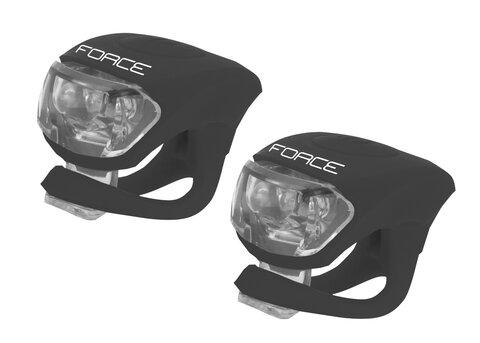 Žibintų komplektas Force 2 LED (juodas, priekinis+galinis)