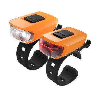 Žibintų komplektas KLS Vega LED 3 funkcijos (oranžinė)