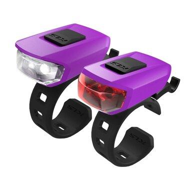 Žibintų komplektas KLS Vega LED 3 funkcijos (violetinė)