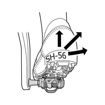 MTB pedalų plokštelės Shimano SPD SH56