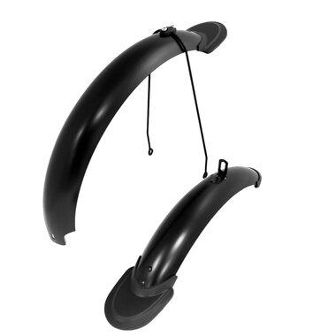 """Skydeliai 16"""" dviračiui (plastikiniai, juodi matiniai)"""