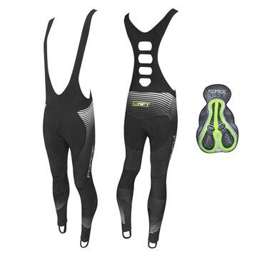 Kelnės su petnešom FORCE Drift Wind su paminkštinimu (juodos) L
