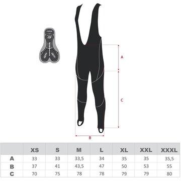 Kelnės su petnešom FORCE Z70 su paminkštinimu (juodos) M