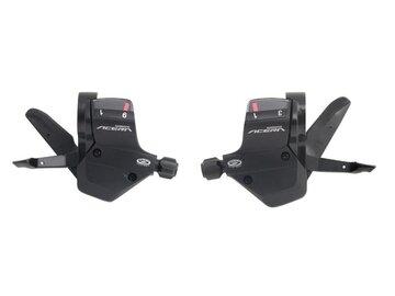 Pavarų rankenėlių komplektas Shimano SLM390 Acera 3x9 pav.