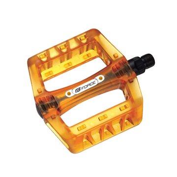 Pedalai FORCE BMX (plastikas, oranžiniai)