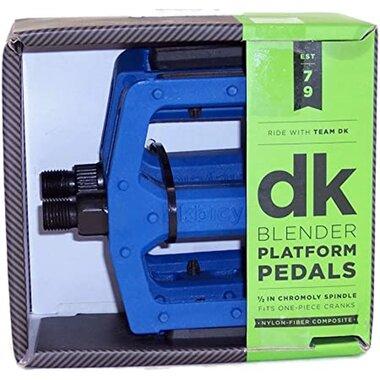 Pedalai DK BMX, 1/2 CR-MO ašis (mėlyni)