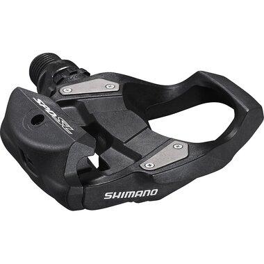 Pedalai SHIMANO RS500 su plokštelėmis (juodi)