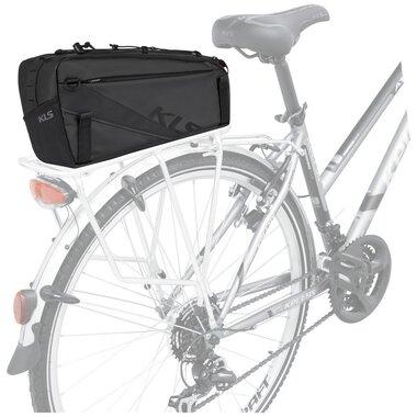 Dviračio krepšys ant bagažinės KLS Space su žibintu 10l