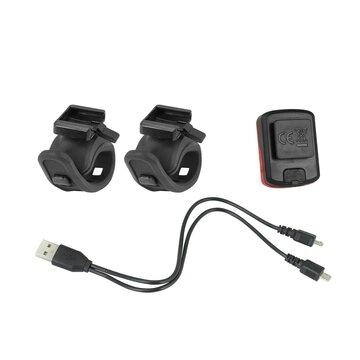 Galinis + priekinis žibintai FORCE Point USB