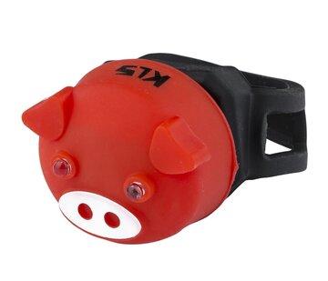 Galinis žibintas KLS Piggy (raudonas)