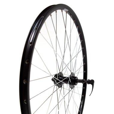 """Galinis ratas 26"""" 36H Guli stebulė, juodas dvigubas RYDE ratlankis, diskiniams stabdžiams, užsakamas žv. blokas"""