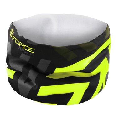 Skara-šalikas FORCE Spike (juoda/fluorescencinė)