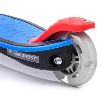 Paspirtukas METEOR GHOST su LED 3 ratais (mėlyna)