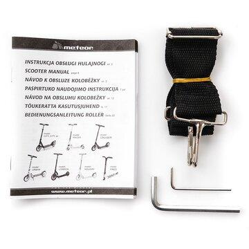 Paspirtukas METEOR Holiday Locker (juodas)