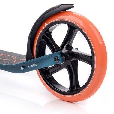 Paspirtukas METEOR MEX (pilkas/mėlynas/oranžinis)