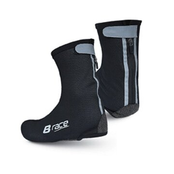 Antbačiai BONIN B-Race su apsauga nuo vėjo (juodi) 46-48 (XL)