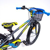"""4KIDS Neon 20"""" dydis 9.5"""" (24cm) (aliuminis, tamsiai mėlyna/neoninė geltona)"""