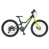 "4KIDS Thunder 24"" size 13,5"" (34cm) (aluminium, black/blue/neon yellow)"