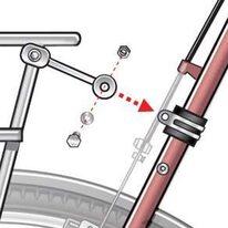 Adapteris ant dviračio rėmo varžtui prisukti 20mm