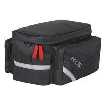 Dviračio krepšys ant bagažinės KLS Space 12l 30x18x23cm (juoda)