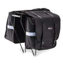 Dviračio krepšiai ant bagažinės Lux, 28x14x38cm (juodas)
