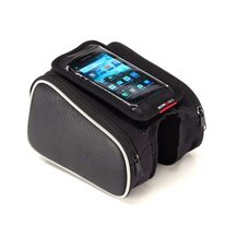 Bag with two side pockets on frame with phone case BONIN L 17x9cm (black)