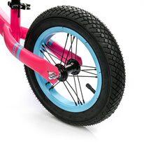 """Balansinis dviratis METEOR 12"""" (rožinė/žydra/balta)"""